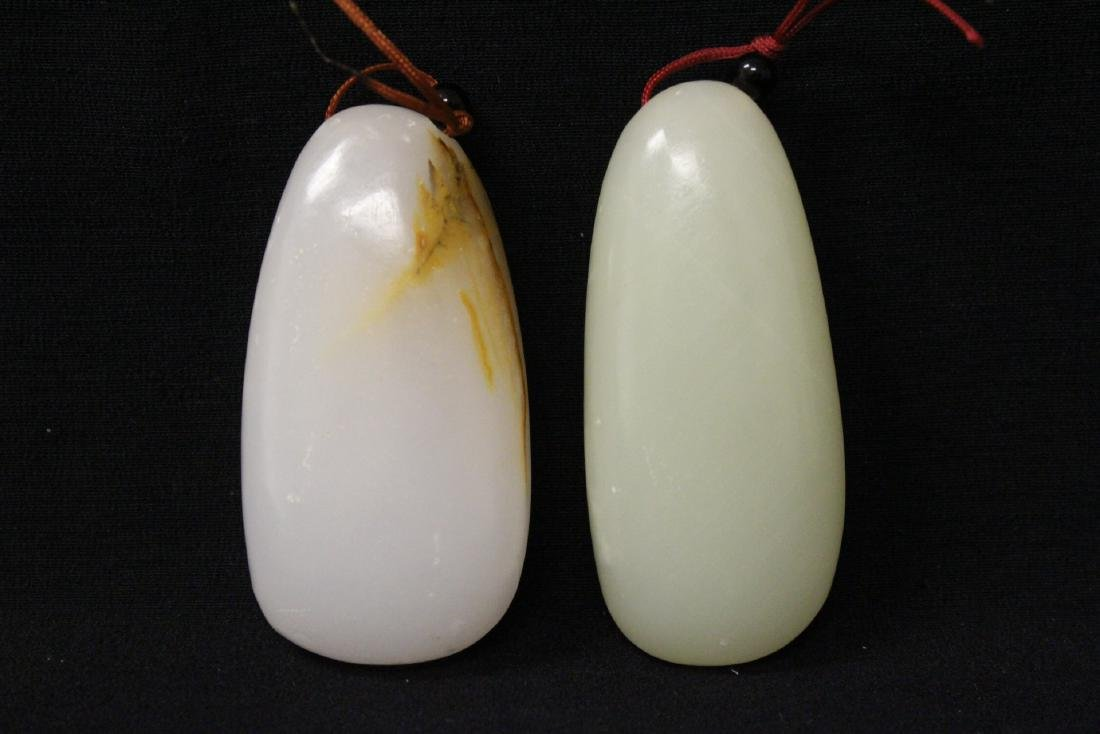 2 pebble white stones
