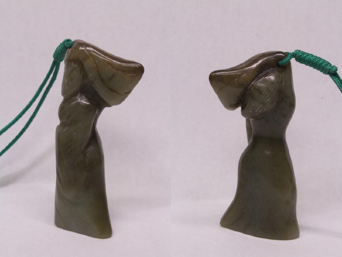 2 Chinese figural motif jade carvings - 8
