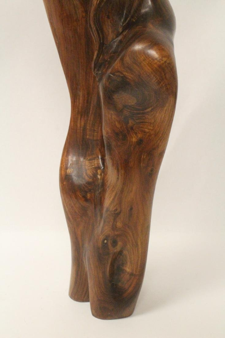 Large Chinese huali wood carved shoulao - 2