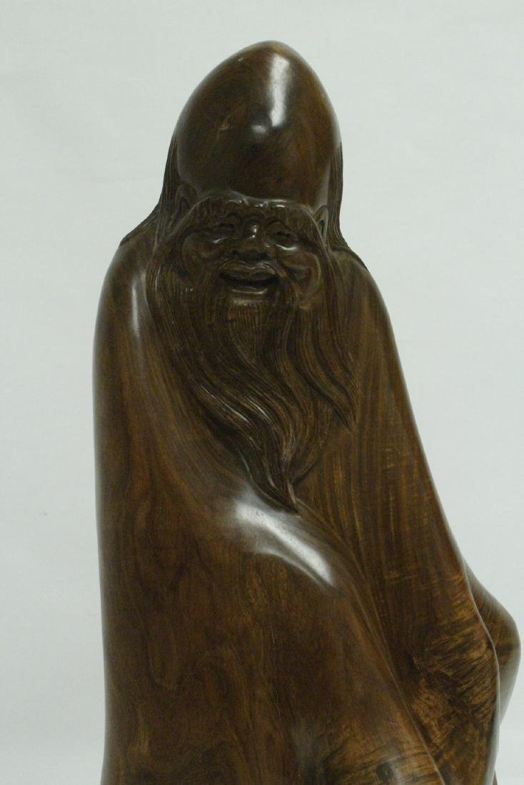 Chinese large huali wood carving - 6