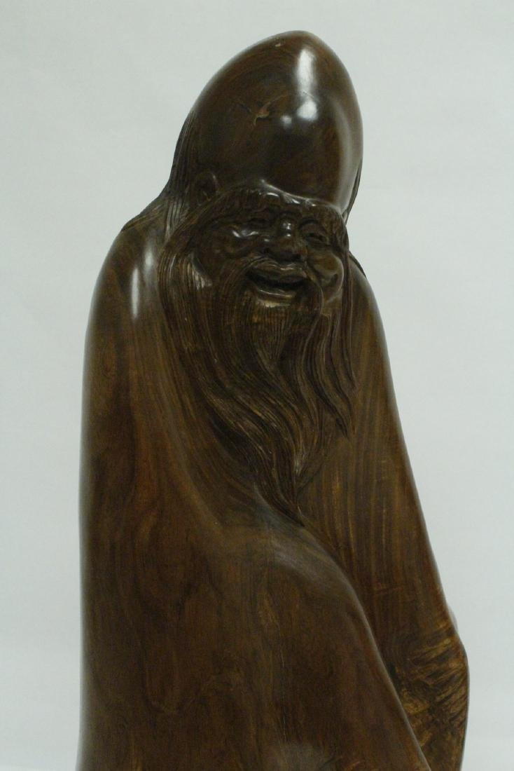 Chinese large huali wood carving - 9