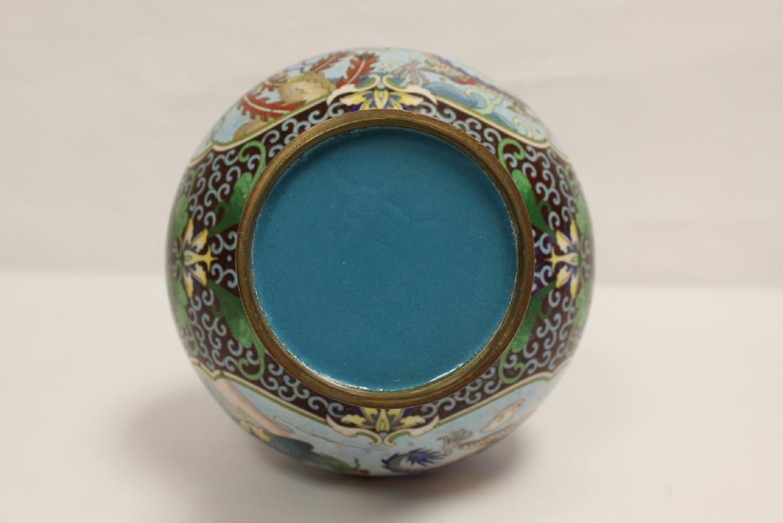 Chinese cloisonne vase - 8