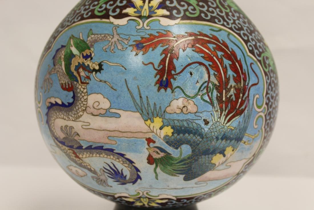 Chinese cloisonne vase - 9