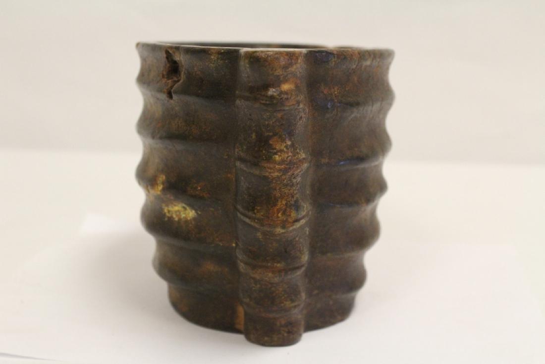 Unusual Chinese jade carved ritual vessel - 4