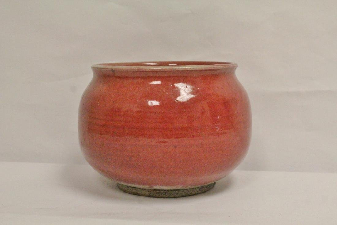 Chinese vintage glazed large porcelain brush wash - 2