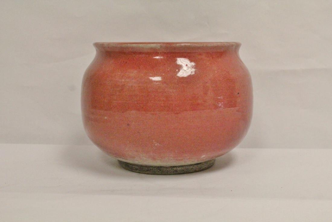 Chinese vintage glazed large porcelain brush wash - 3