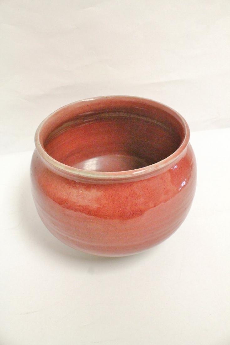 Chinese vintage glazed large porcelain brush wash - 6