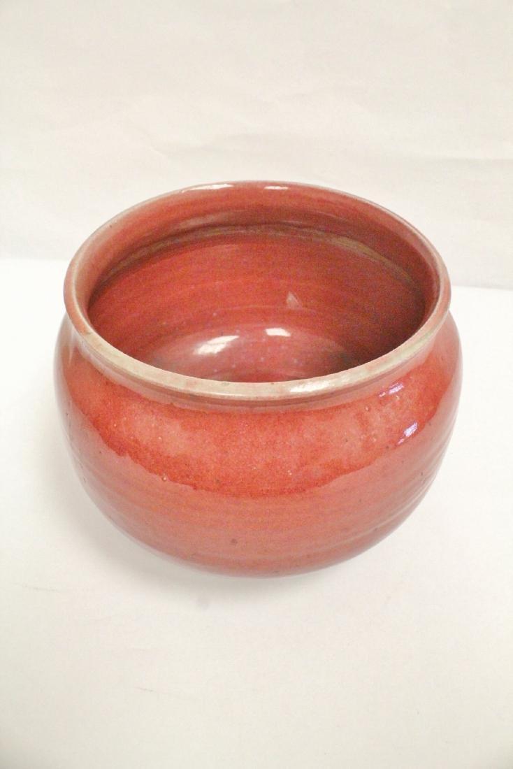 Chinese vintage glazed large porcelain brush wash - 7