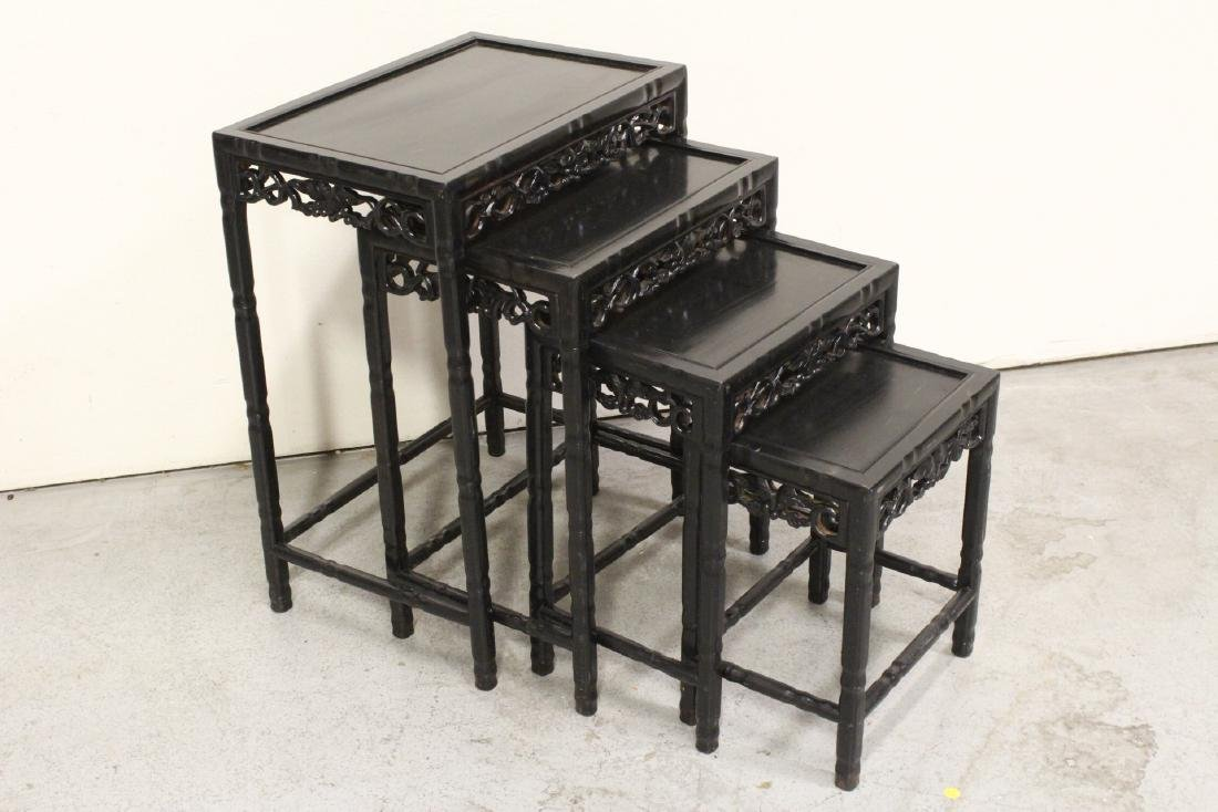 4 Chinese stackable tables