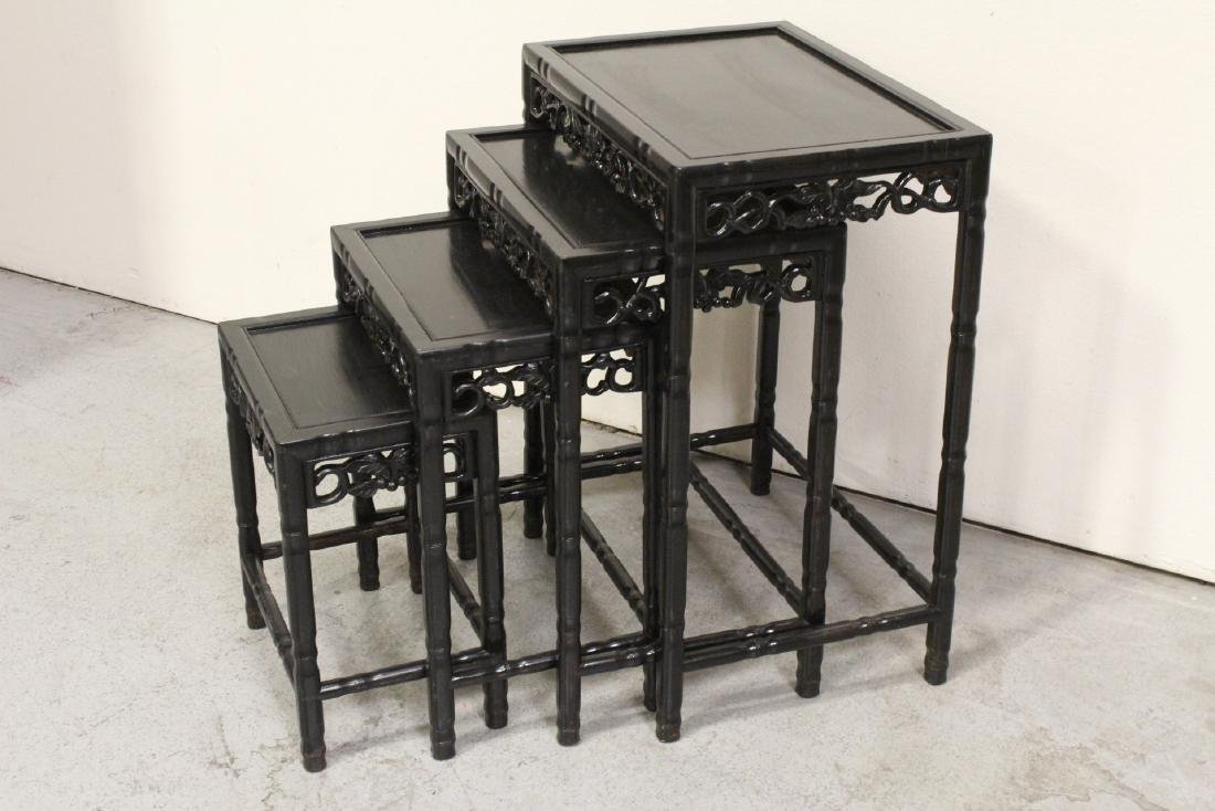 4 Chinese stackable tables - 4