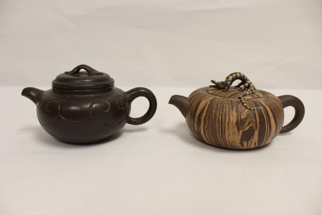 2 Chinese Yixing teapot