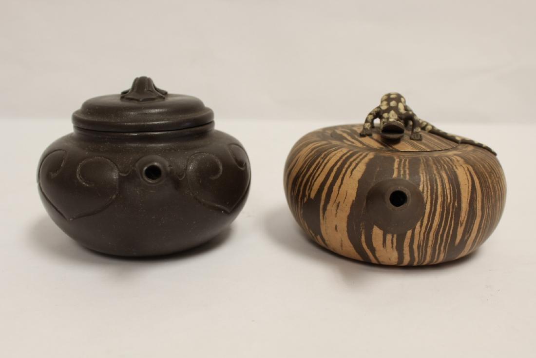 2 Chinese Yixing teapot - 2