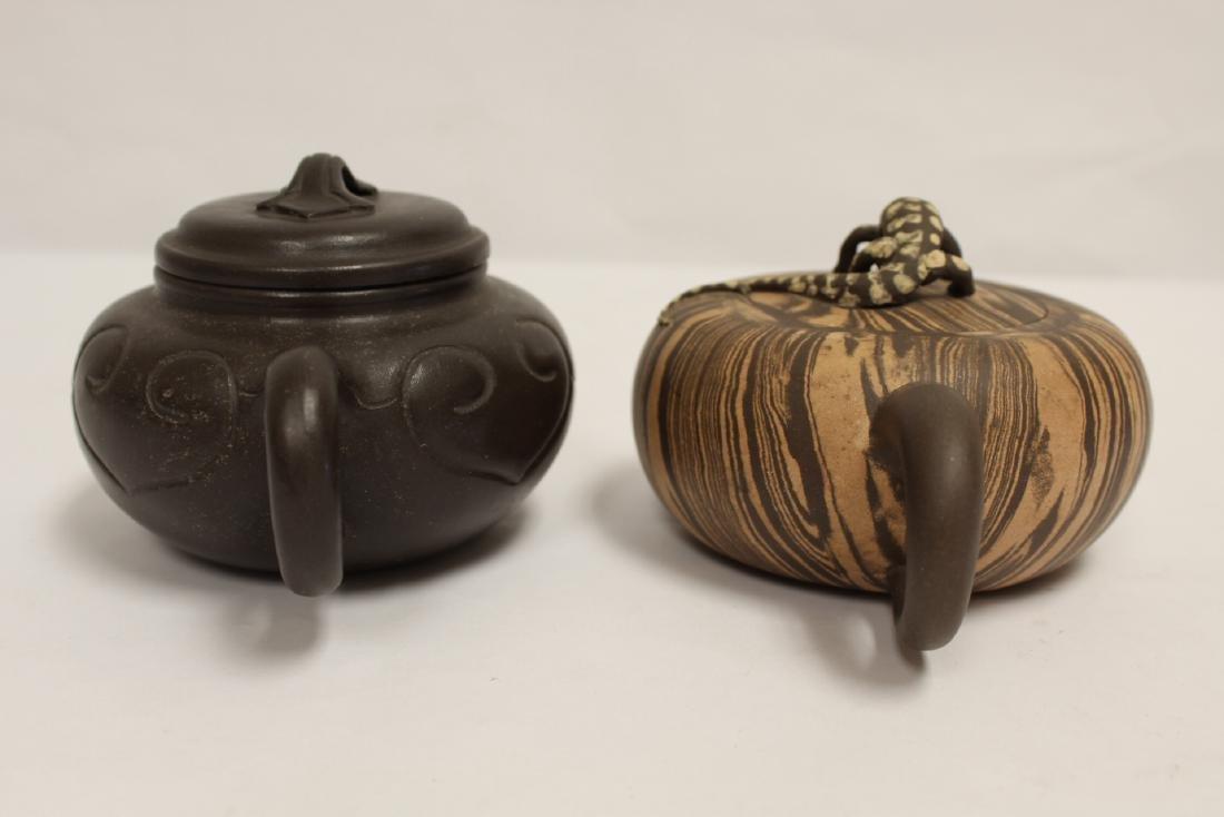 2 Chinese Yixing teapot - 3