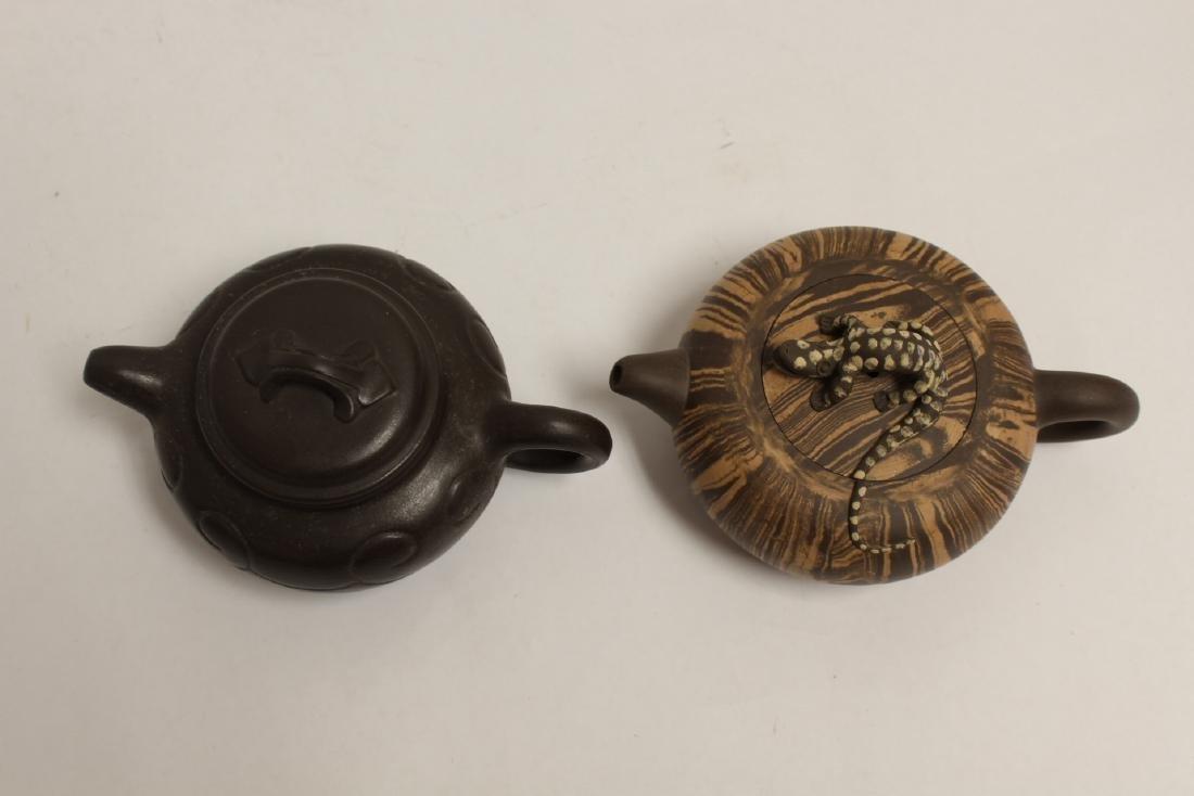 2 Chinese Yixing teapot - 4