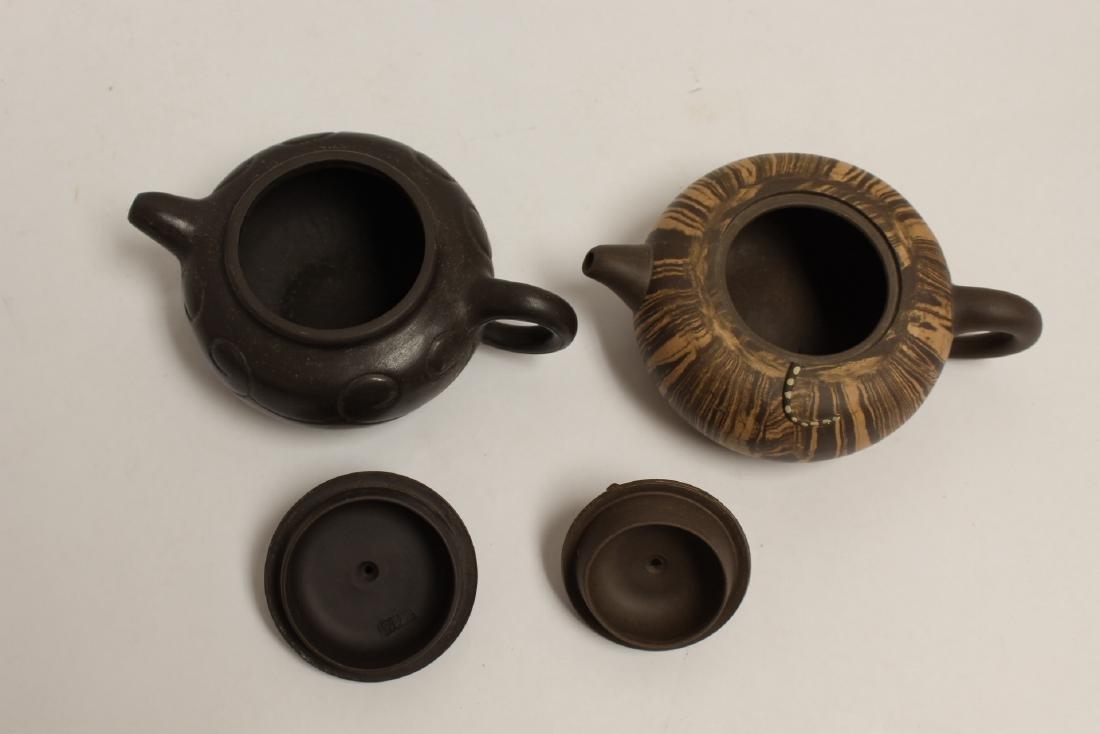 2 Chinese Yixing teapot - 5
