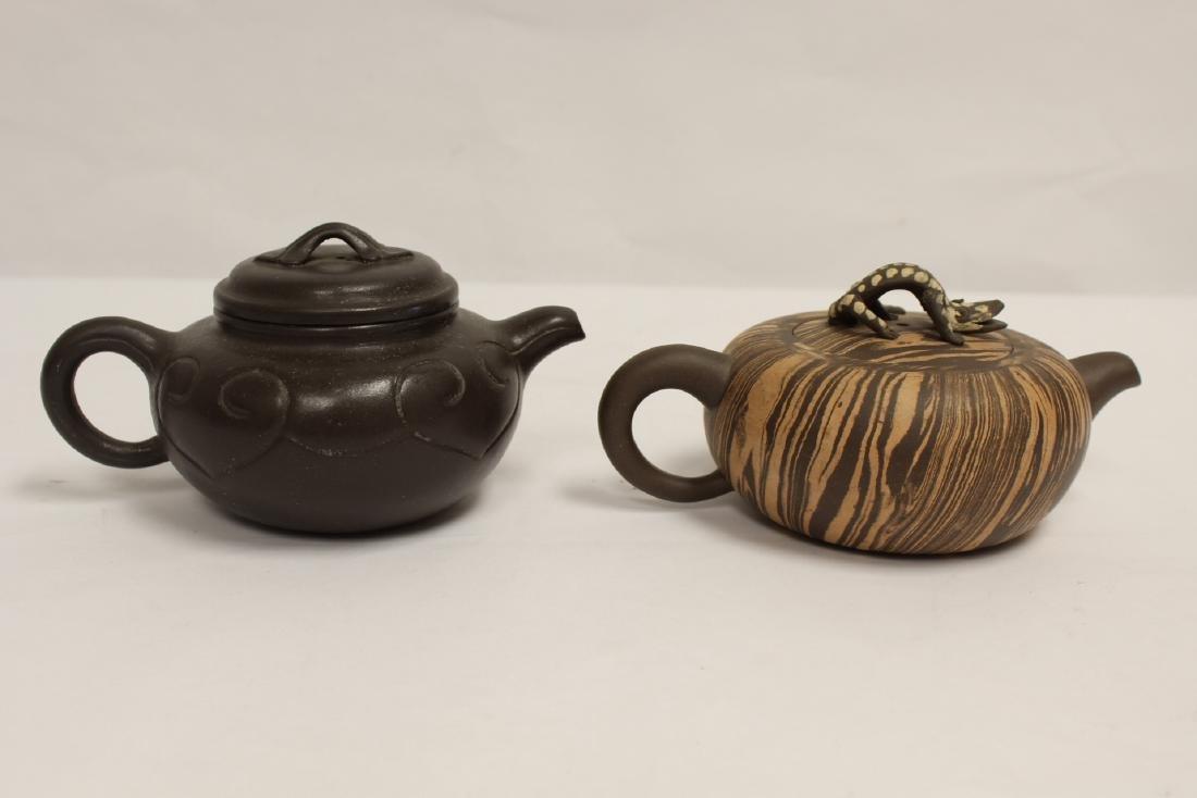 2 Chinese Yixing teapot - 6