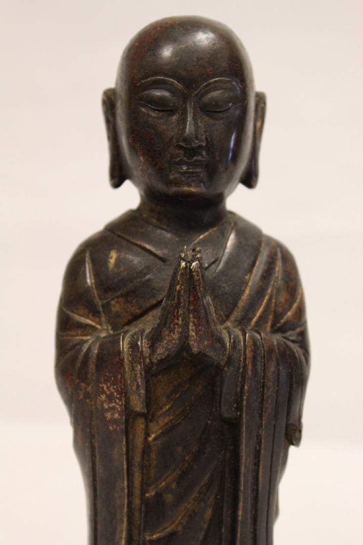 Chinese vintage bronze sculpture of scholar - 6