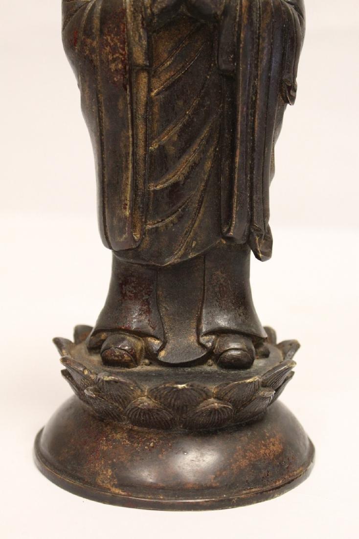 Chinese vintage bronze sculpture of scholar - 7