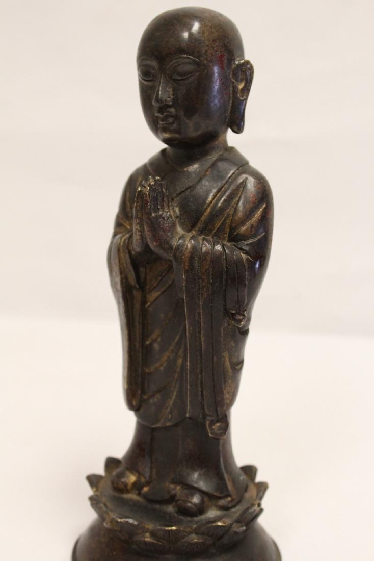 Chinese vintage bronze sculpture of scholar - 9