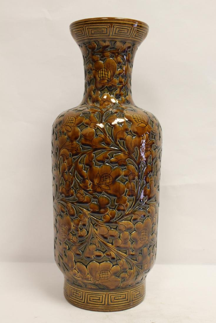 Chinese brown glaze porcelain vase - 2