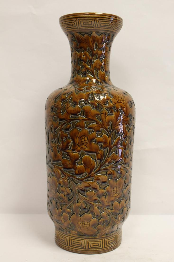 Chinese brown glaze porcelain vase - 3