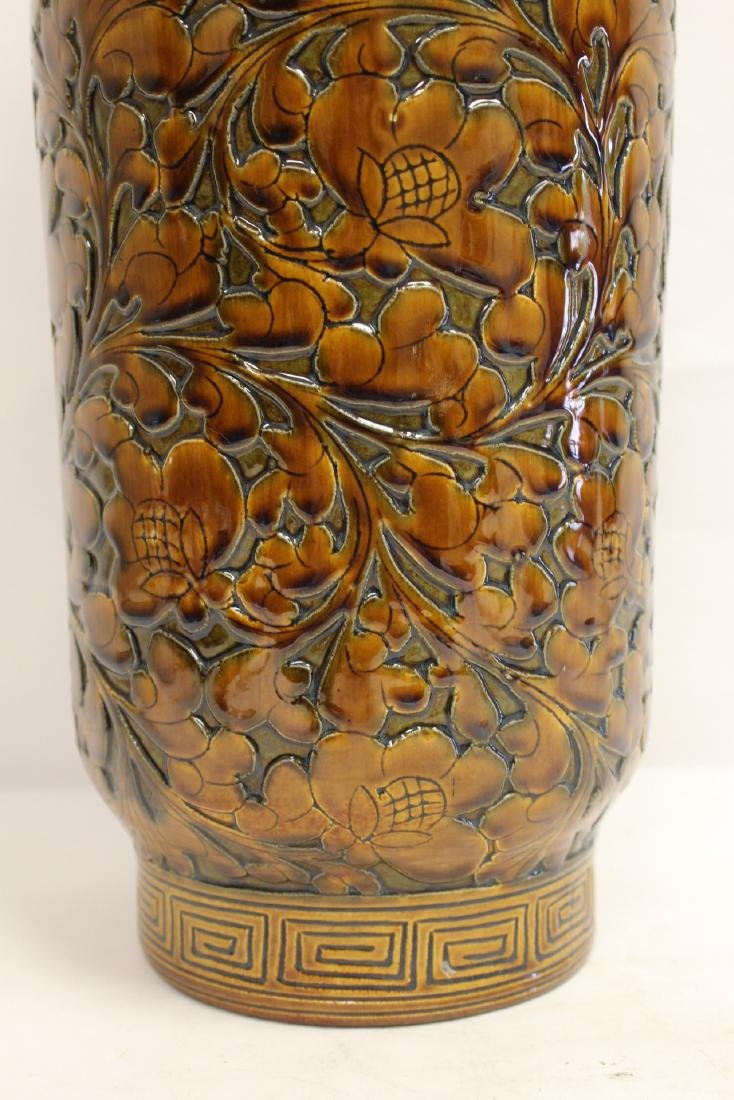 Chinese brown glaze porcelain vase - 7