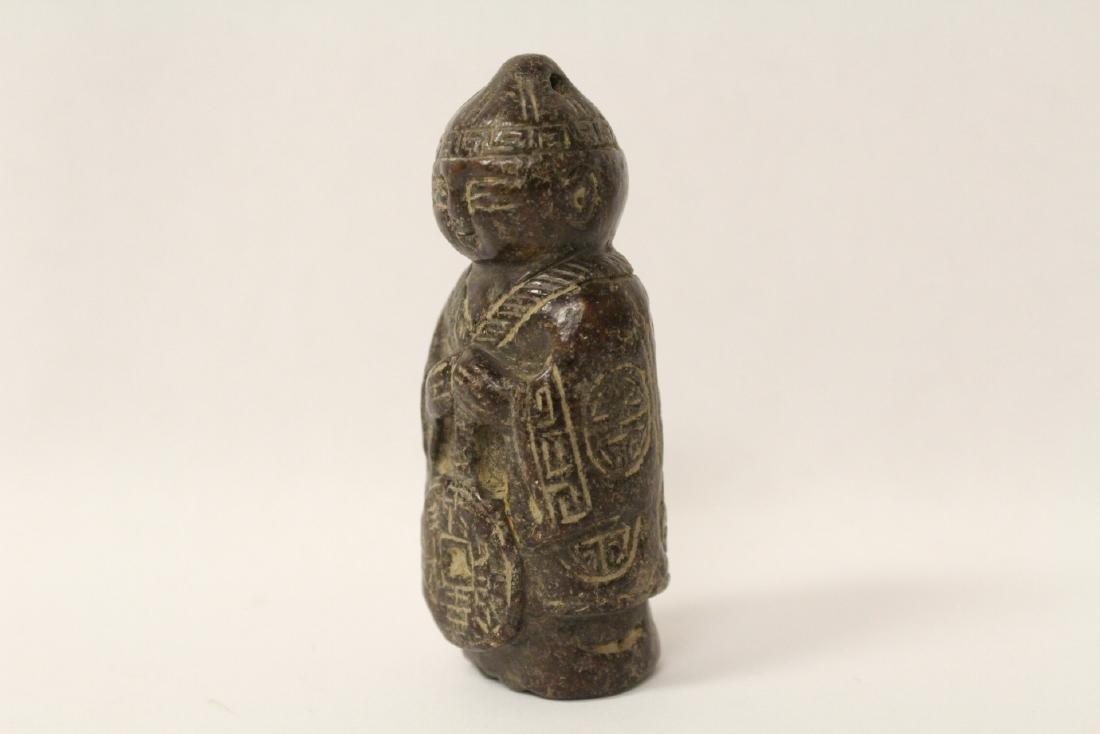 Chinese vintage jade carved figure - 2