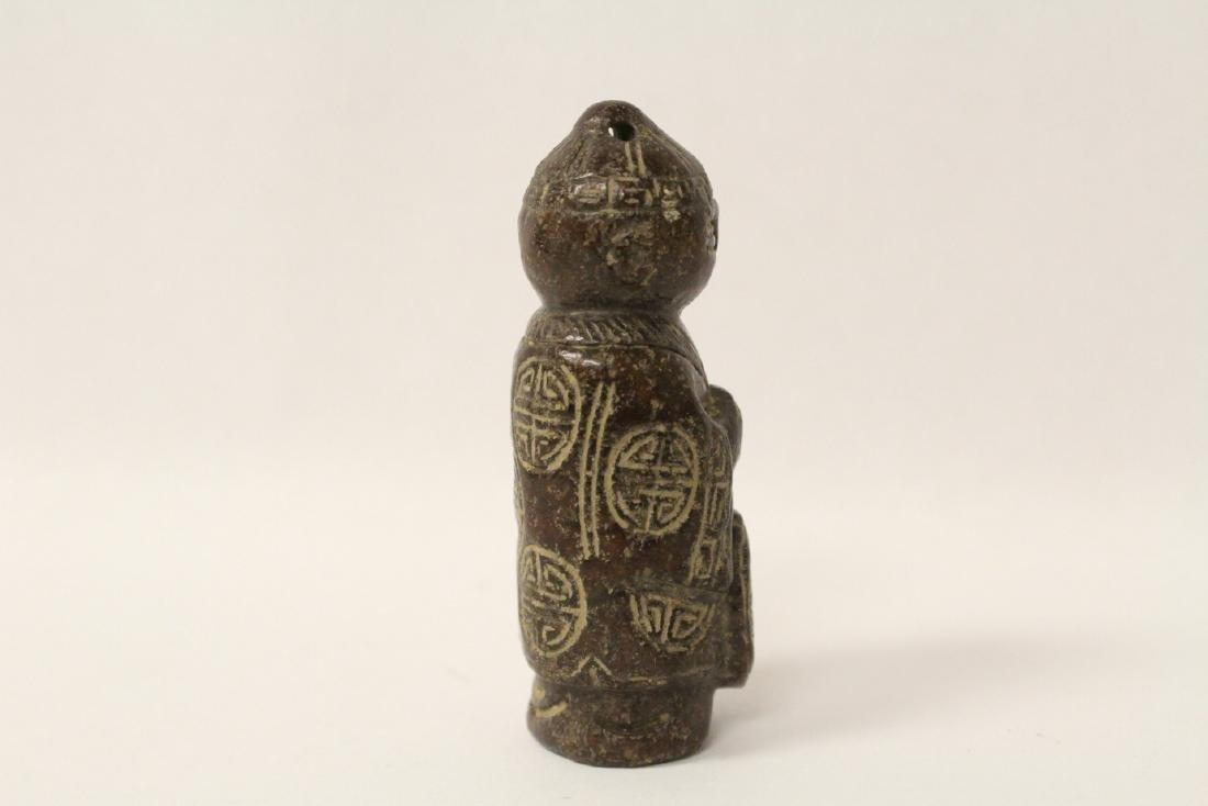 Chinese vintage jade carved figure - 4