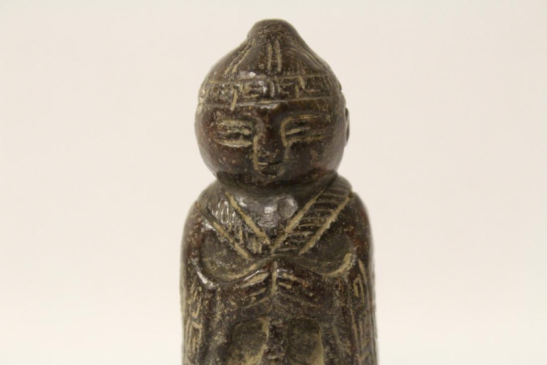 Chinese vintage jade carved figure - 6