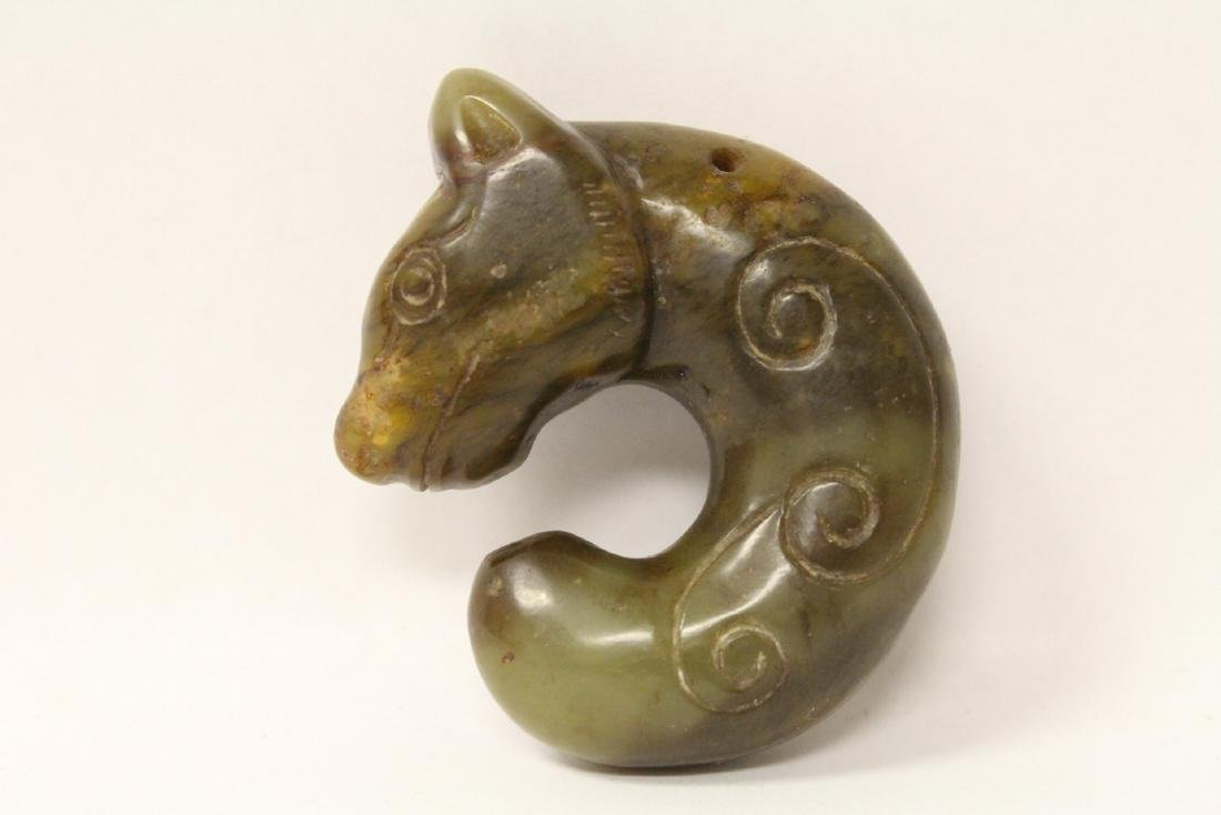 Chinese jade carved mystic animal - 7