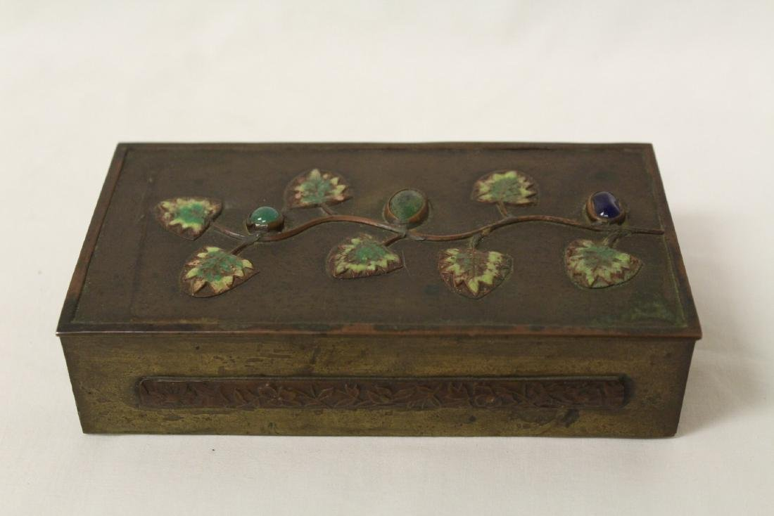 Chinese bronze box decorated with enamel