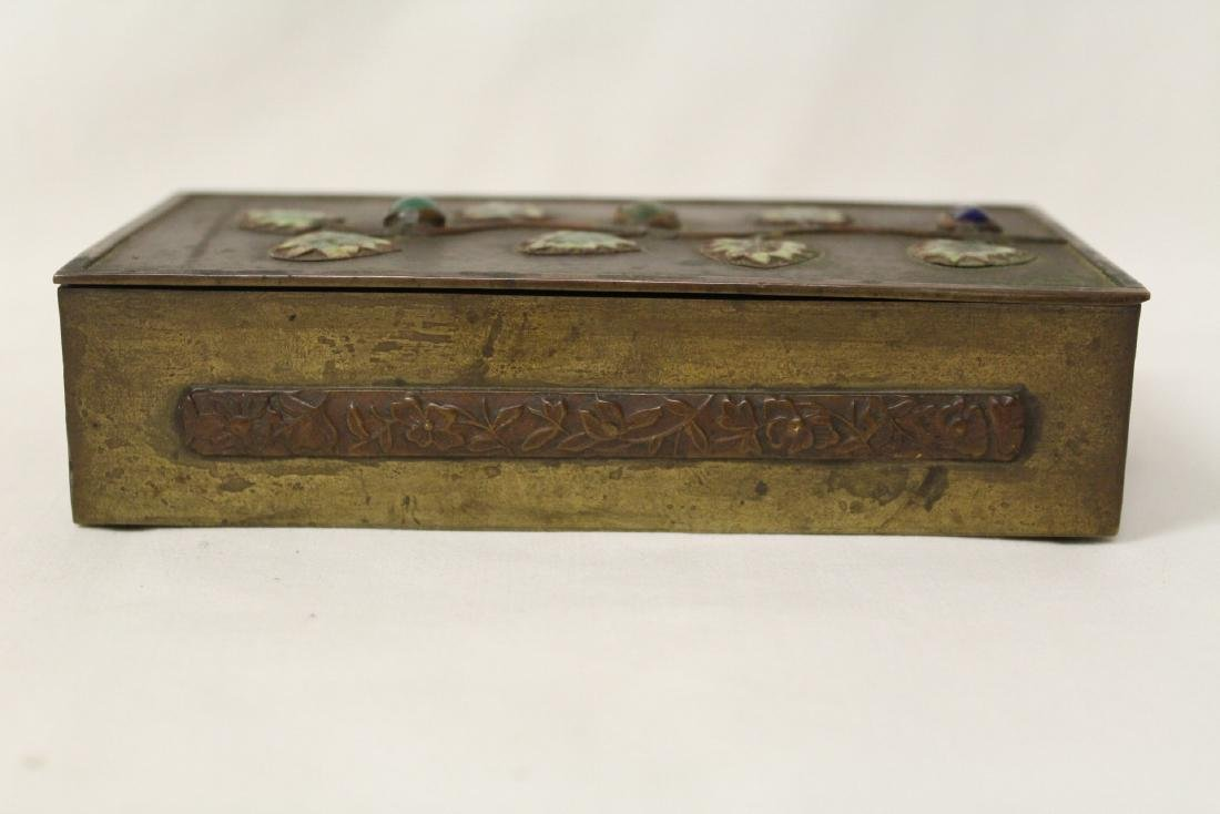 Chinese bronze box decorated with enamel - 2