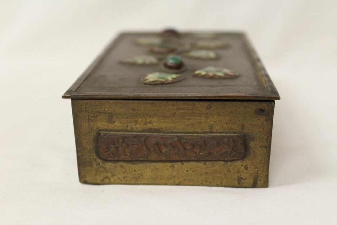 Chinese bronze box decorated with enamel - 5
