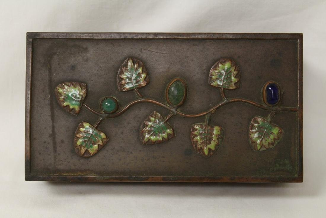 Chinese bronze box decorated with enamel - 6