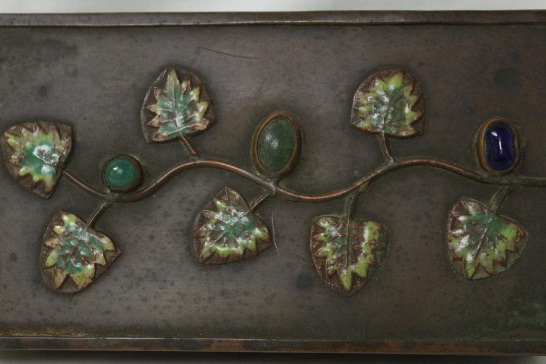 Chinese bronze box decorated with enamel - 7
