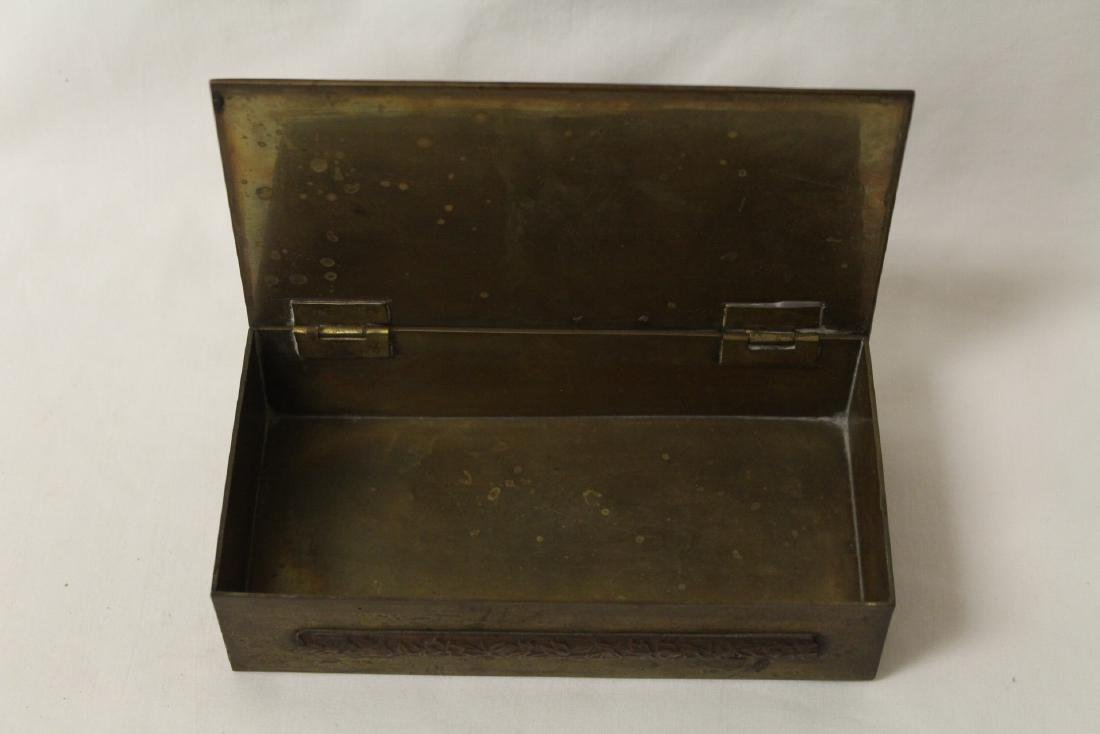Chinese bronze box decorated with enamel - 8