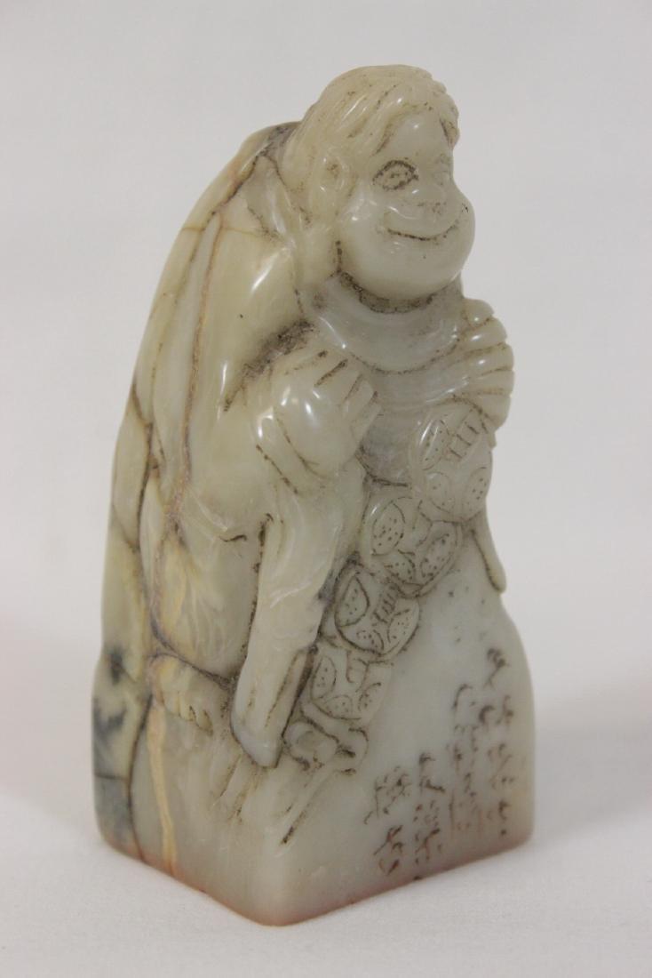 Chinese 19th century shoushan stone seal