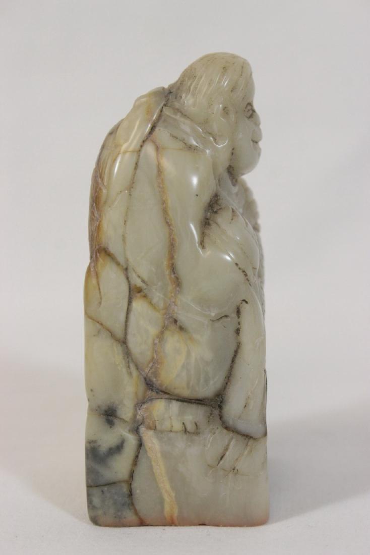 Chinese 19th century shoushan stone seal - 5