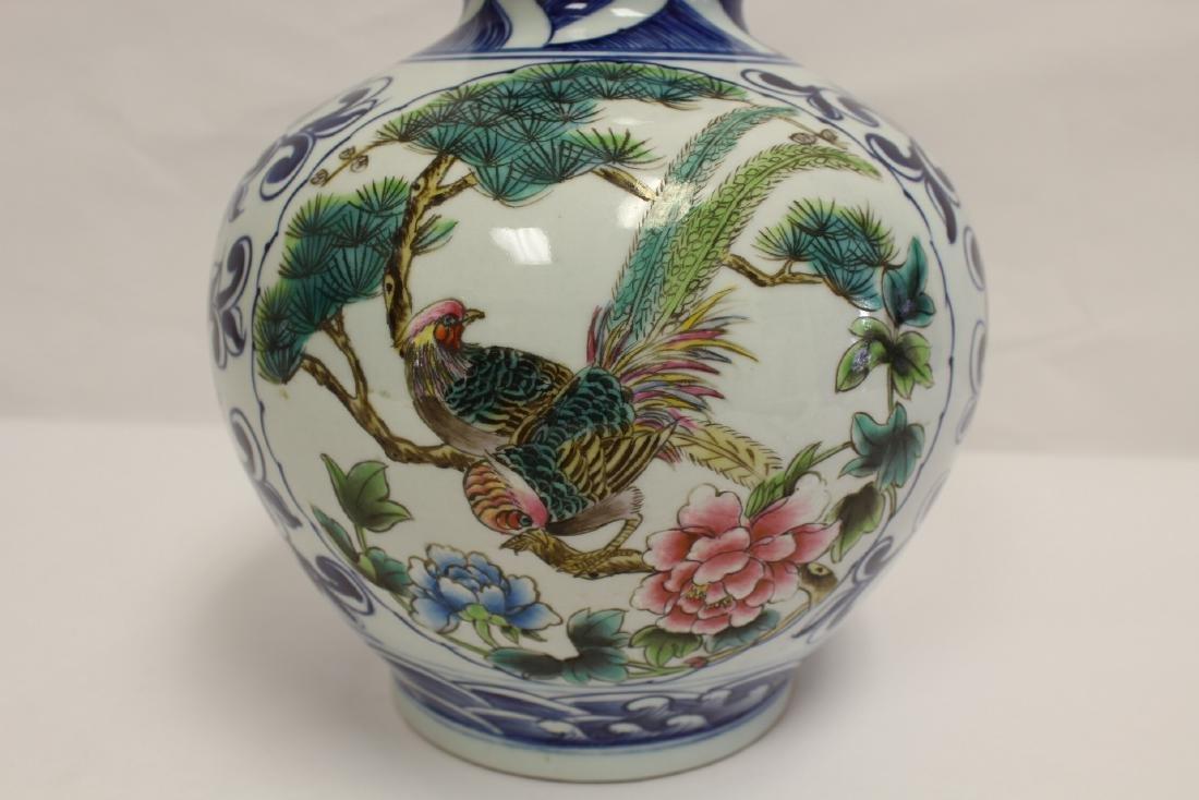 Chinese wucai gourd shape vase - 10