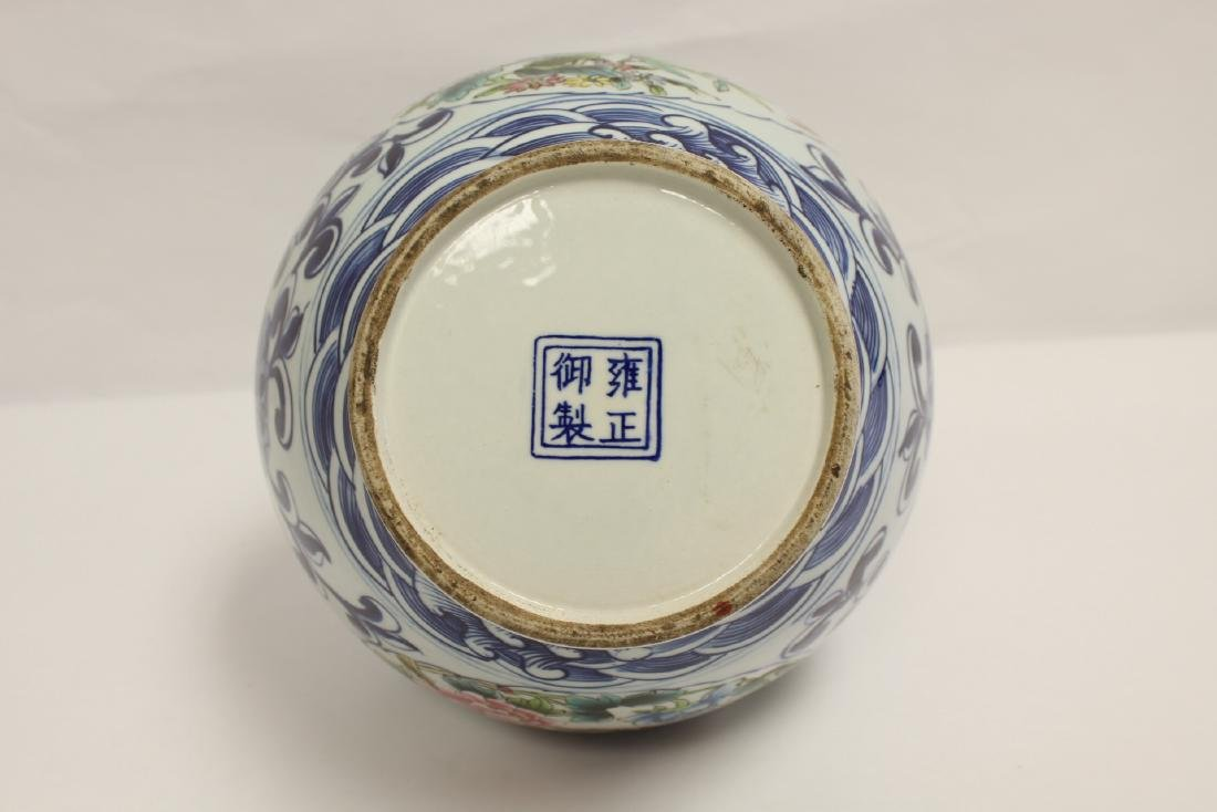Chinese wucai gourd shape vase - 8
