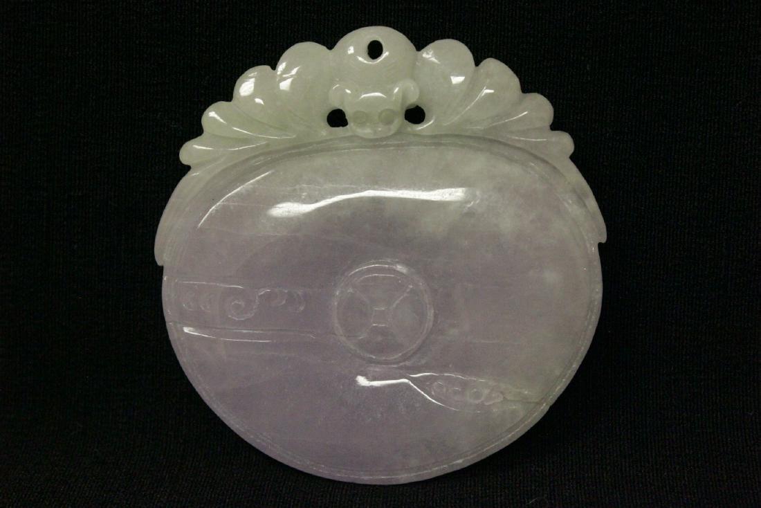 Chinese deep purple lavender jadeite pendant - 9