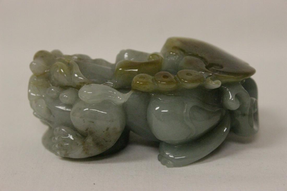 A fine translucent jadeite carving - 5