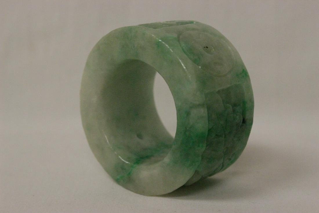 Unusual Chinese apple green jadeite carving - 6