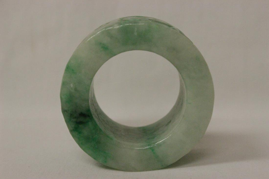 Unusual Chinese apple green jadeite carving - 7
