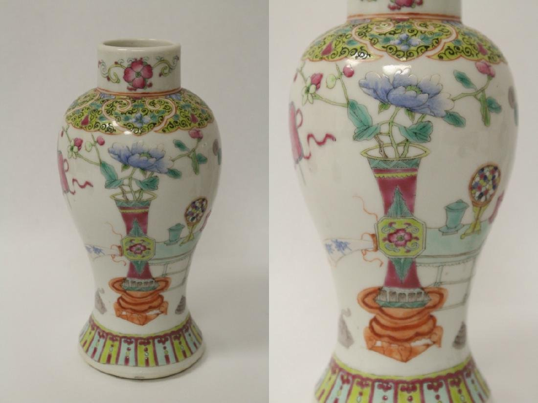 Pair famille rose porcelain covered jars - 6