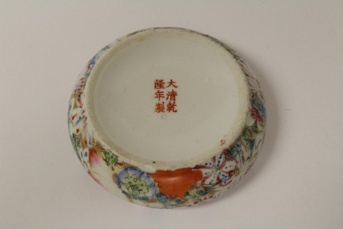 2 Chinese famille rose porcelain pieces - 9