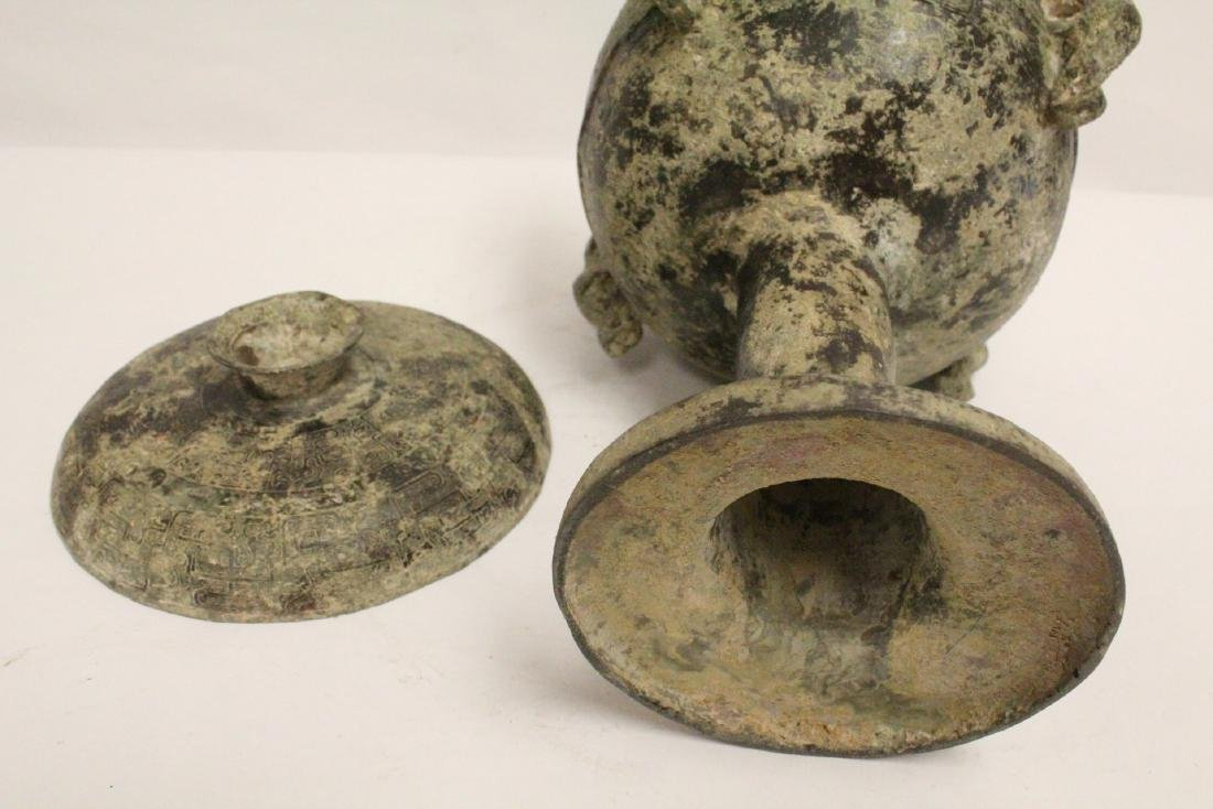 Chinese archaic style bronze dou - 10