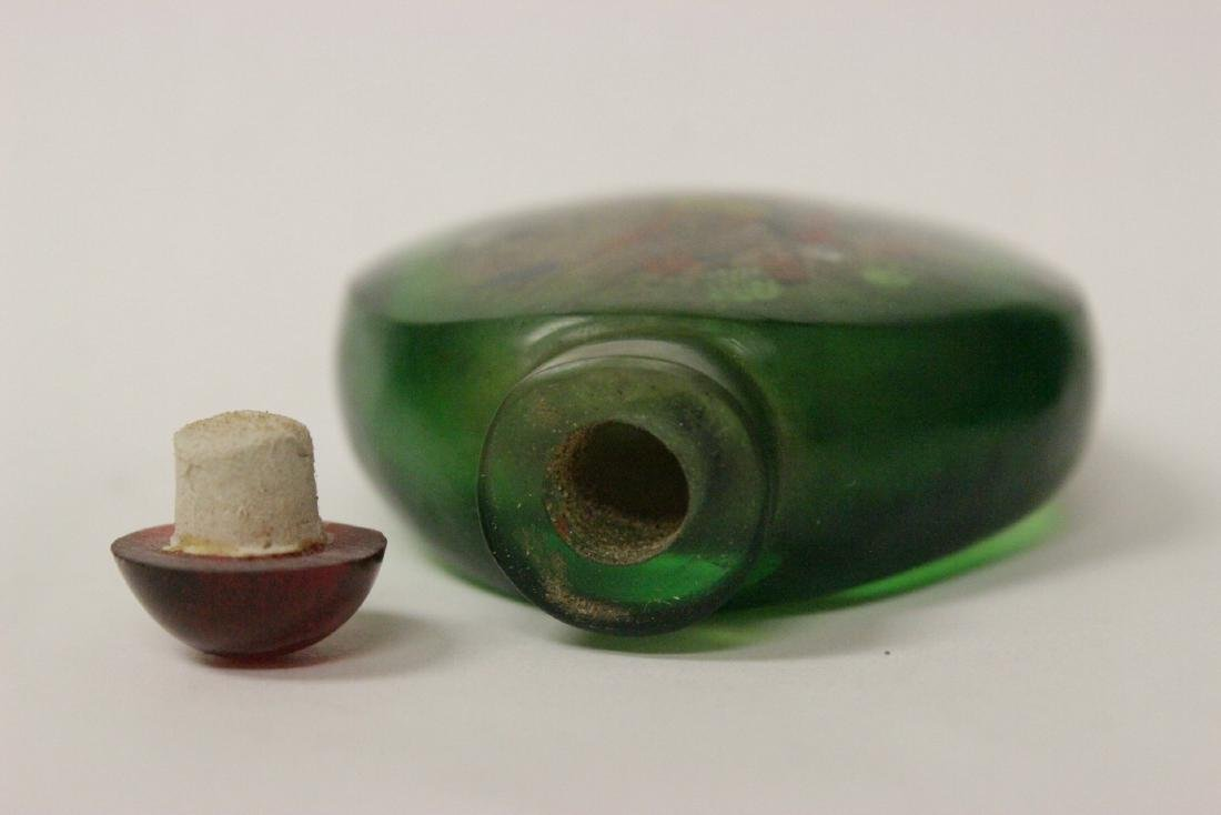 A green inside painted snuff bottle - 7