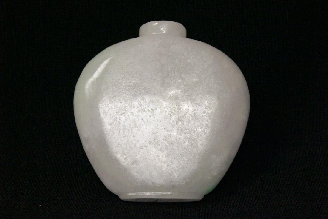 A fine Chinese white jade carved snuff bottle - 8