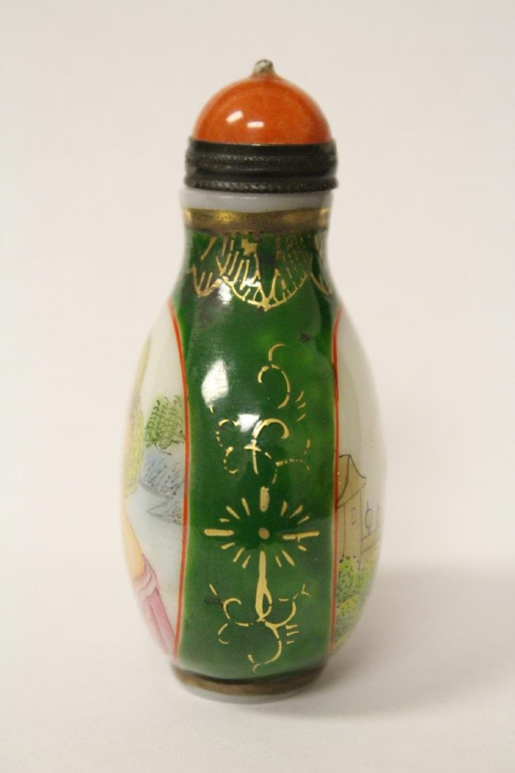 Chinese enamel on Peking glass snuff bottle - 10